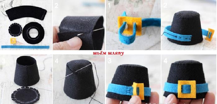 Шьем шляпу для петушка из носка