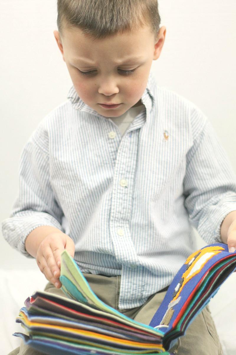 Азбука из фетра для мальчика