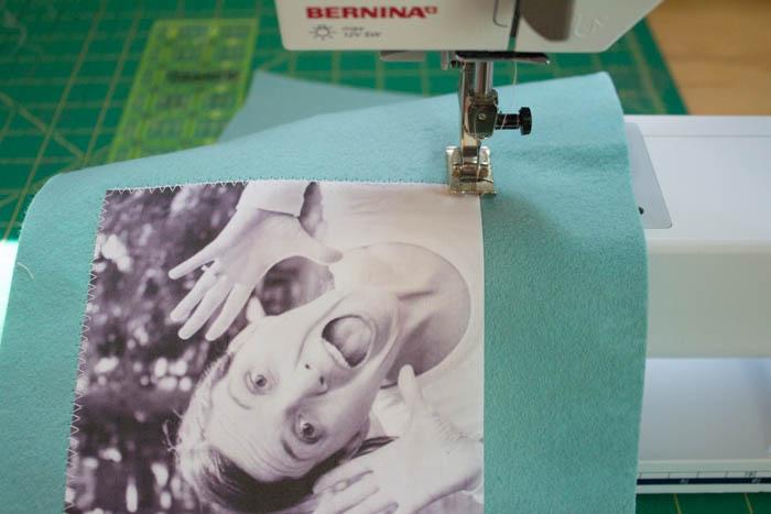 Фотоальбом из фетра-пришейте картинки и надписи