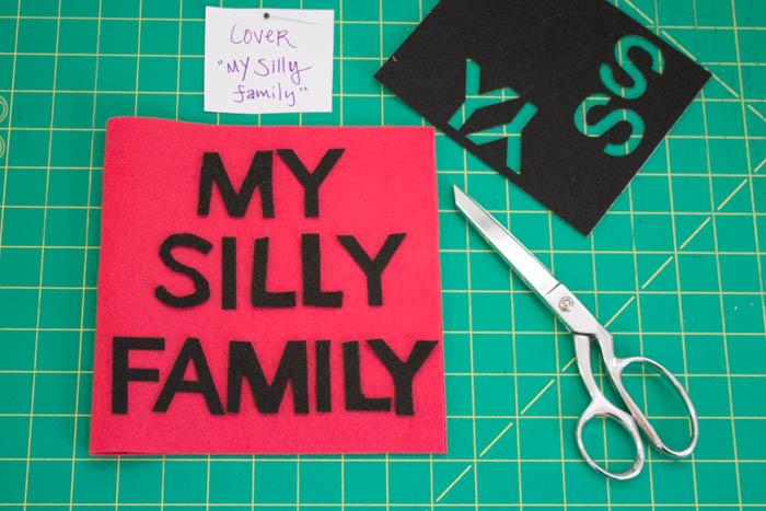 Фотоальбом из фетра-вырежьте буквы