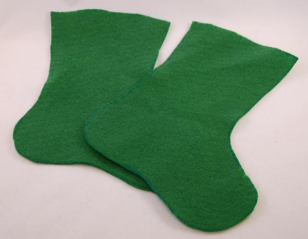 Носок из фетра-вырежьте заготовки