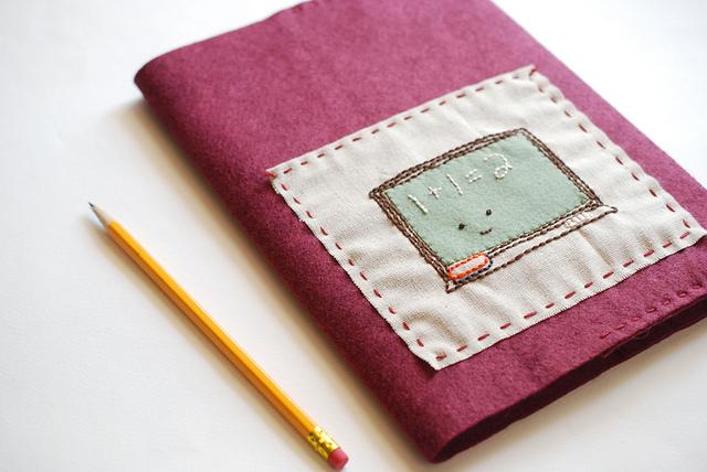 Обложка для книги из фетра своими руками