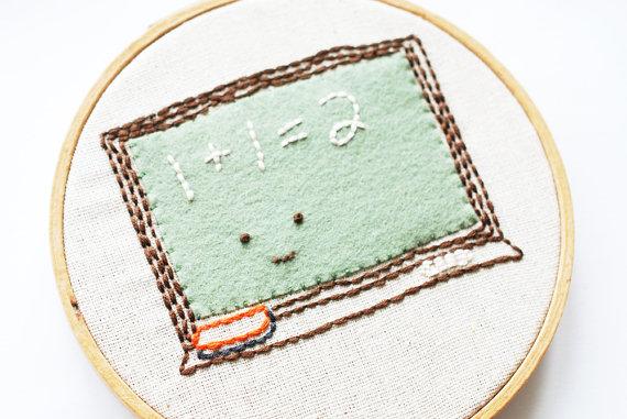 Обложка для книги из фетра-сделайте вышивку