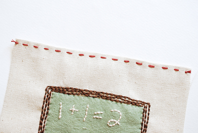 Обложка для книги из фетра-прошейте вышивку