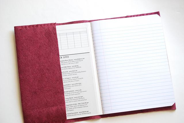 Обложка для книги из фетра-поместите книгу в обложку