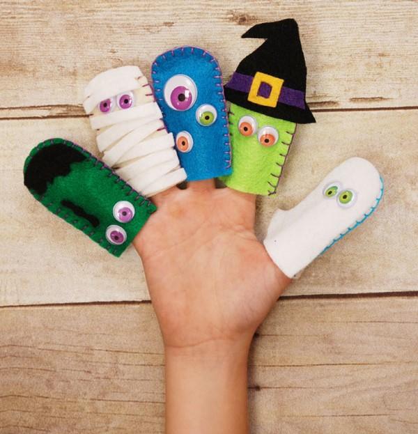 Пальчиковые игрушки из фетра на пальцах
