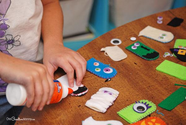 Пальчиковые игрушки из фетра-сделайте монстров