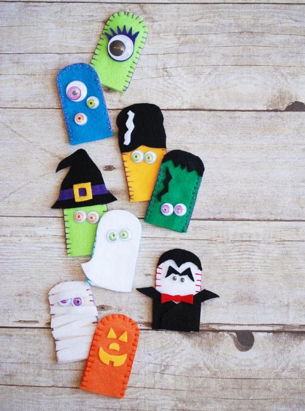 Пальчиковые игрушки из фетра-разнообразие монстров