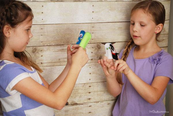 Пальчиковые игрушки из фетра-игры девочек