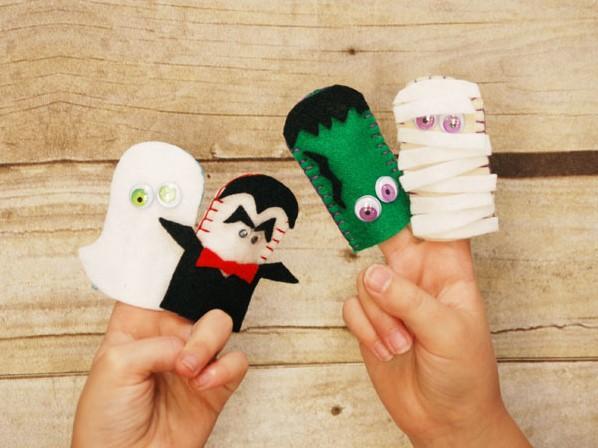 Пальчиковые игрушки из фетра своими руками