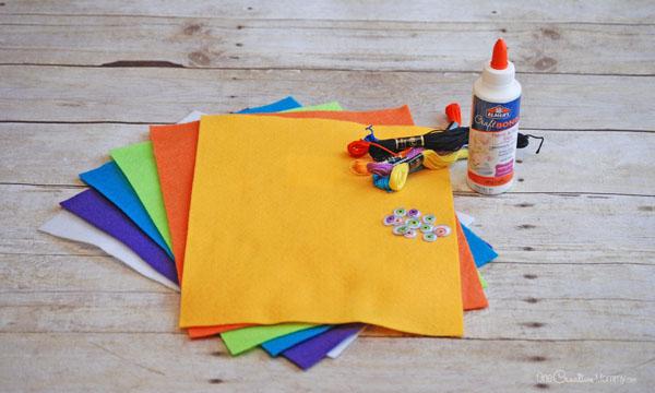 Пальчиковые игрушки из фетра-материалы