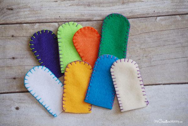Пальчиковые игрушки из фетра-заготовки готовы