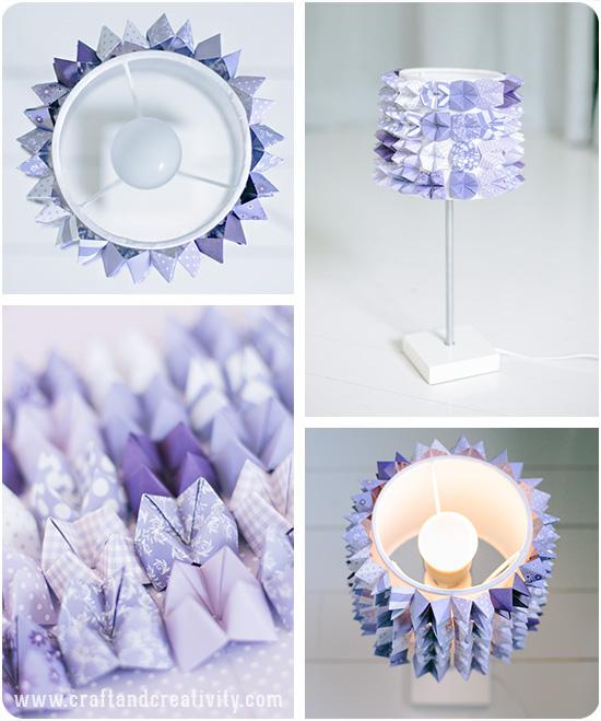 Абажур оригами своими руками