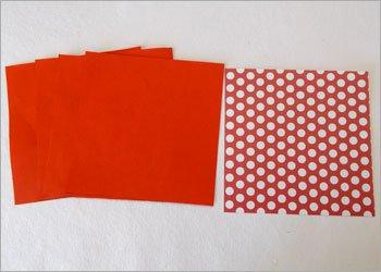 Блокнот оригами-вырежьте квадраты