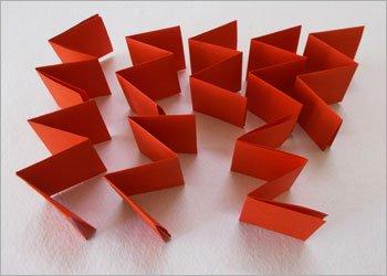 Блокнот оригами-вставьте полоски друг в друга