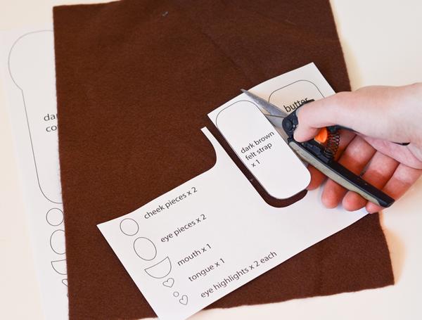 Чехол для телефона из фетра-вырежьте детали