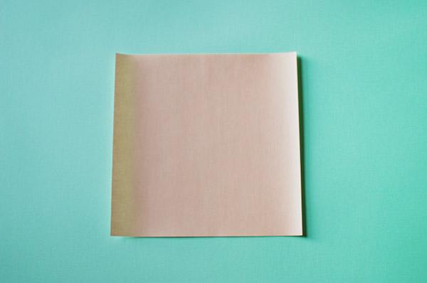 Домик оригами-возьмите квадрат