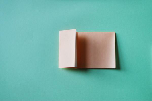 Домик оригами-заверните левый край к середине
