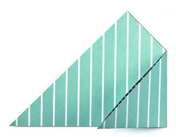 Конверт оригами-заверните правй угол