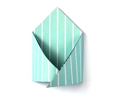 Конверт оригами-раскройте углы