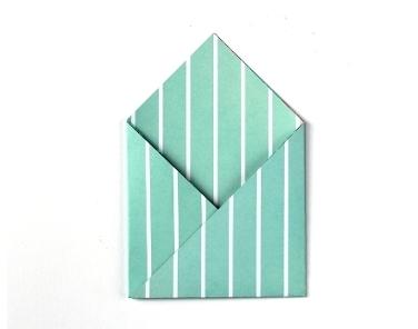 Конверт оригами-сложите углы