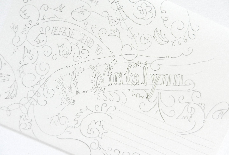 Красивое оформление письма-напишите имя получателя
