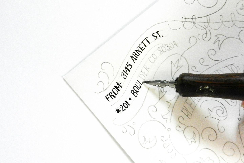 Красивое оформление письма-обведите ручкой