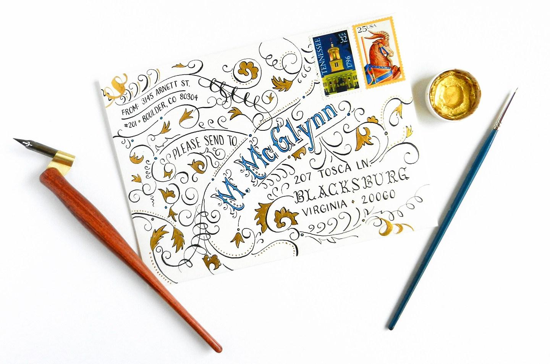 Как красиво офрмить письмо своими руками