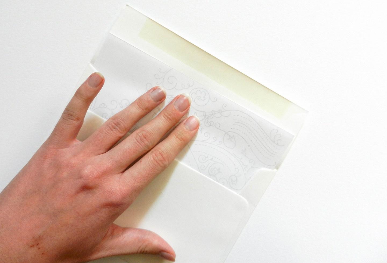 Красивое оформление письма-вставьте шаблон в конверт