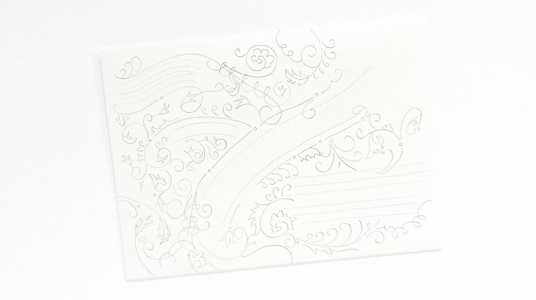 Красивое оформление письма-обведите линии