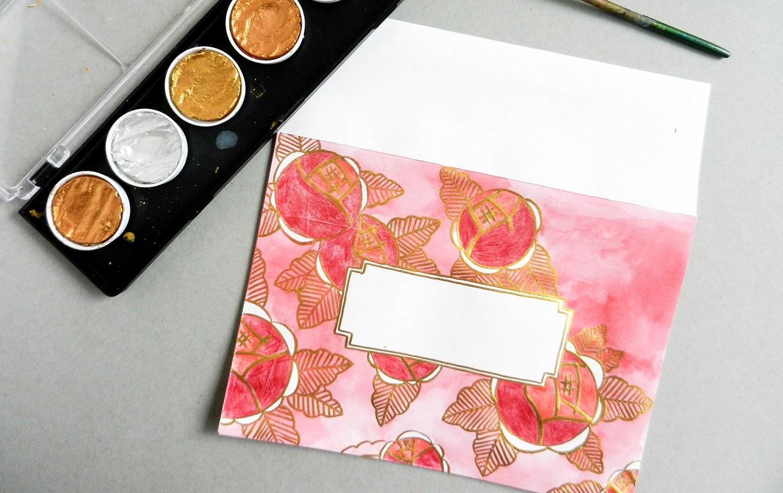Красивый конверт из бумаги-добавьте цвета