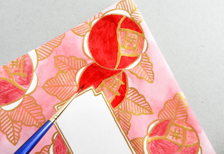 Красивый конверт из бумаги-добавьте красного