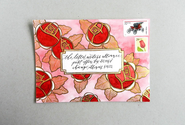 Красивый конверт из бумаги-впишите адрес
