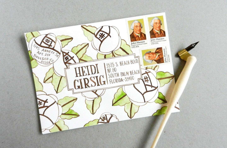 Красивый конверт из бумаги-наклейте марки