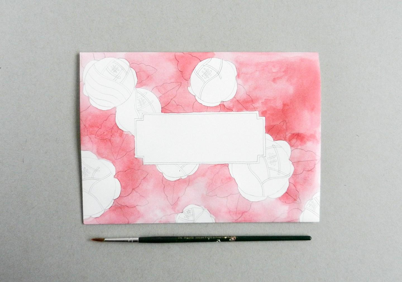 Красивый конверт из бумаги-раскрасьте акварелью