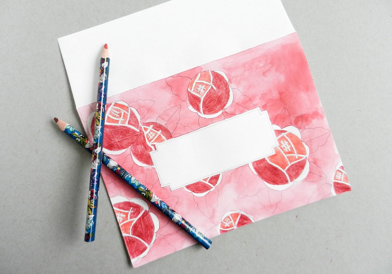 Красивый конверт из бумаги-разрисуйте карандашами