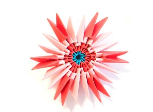 Модульная звезда оригами из бумаги своими руками