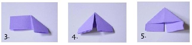 Модульная звезда оригами-заверните к середине