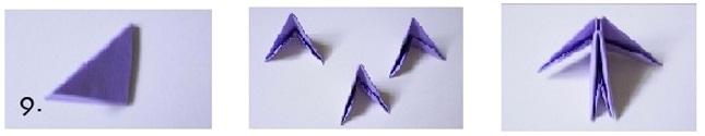 Модульная звезда оригами-сверните бумагу пополам