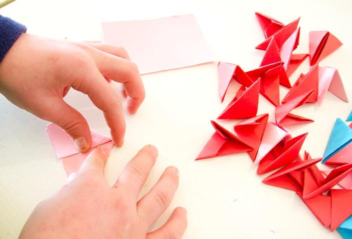 Модульная звезда оригами-сделайте модули