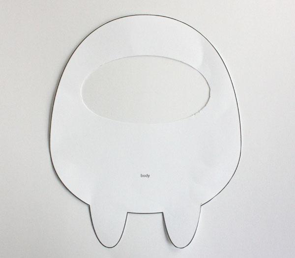 Монстрики из фетра-вырежьте полукруг для лица