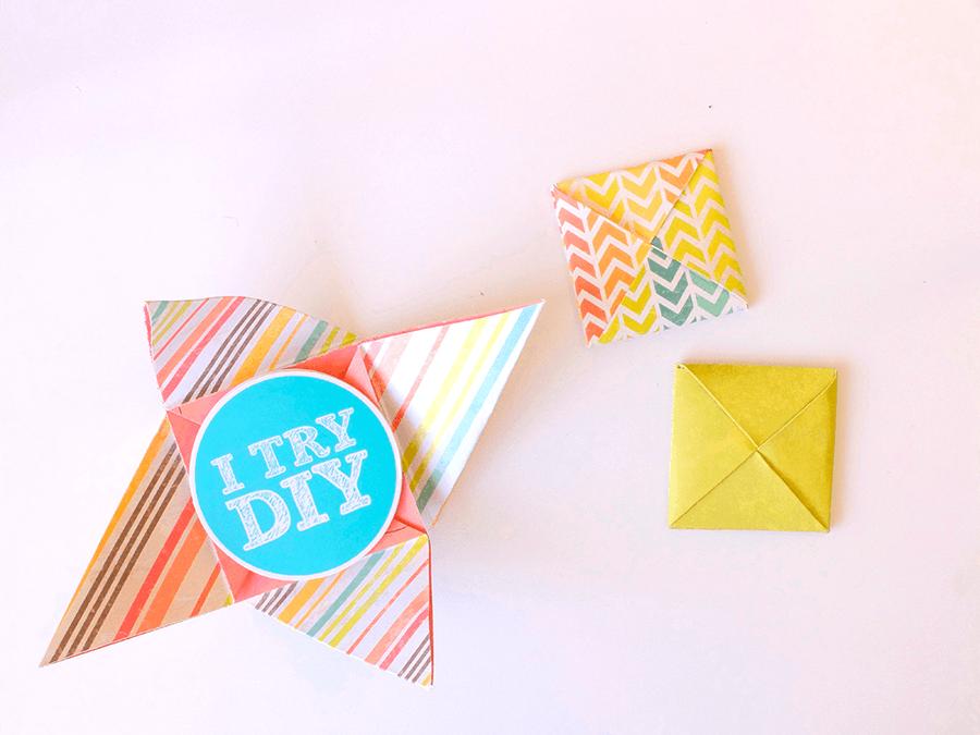 Конверт оригами с сюрпризом