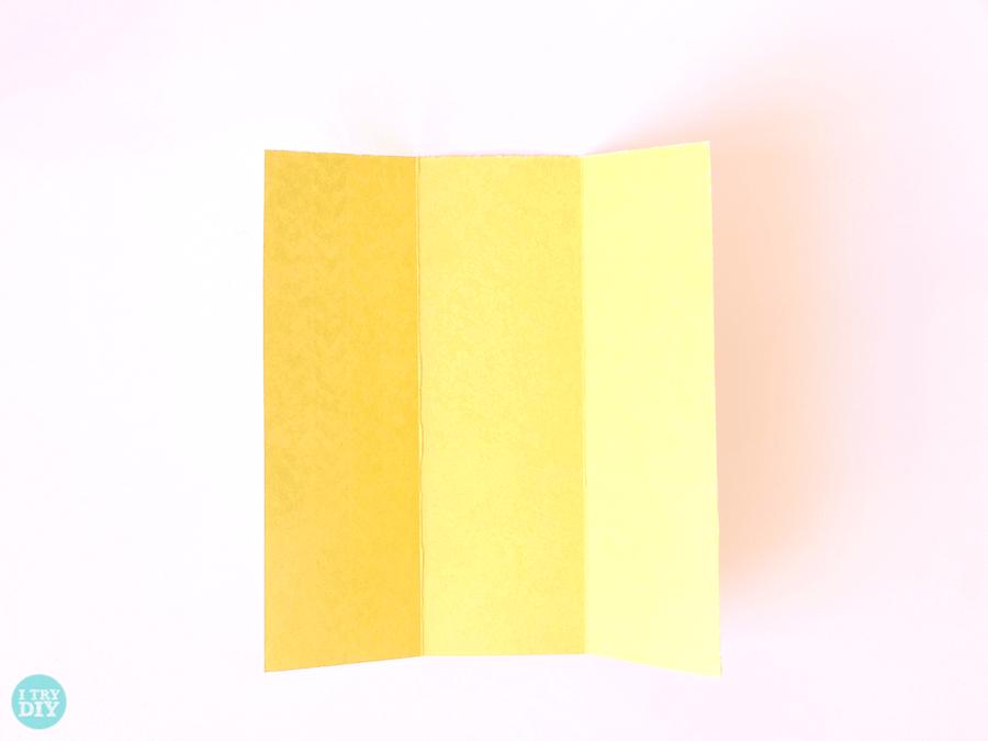 Конверт оригами-разверните бумагу