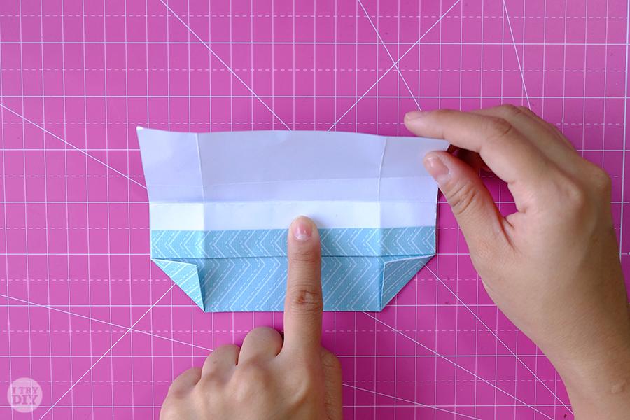 Оригами конверт для денег-раскройте складку