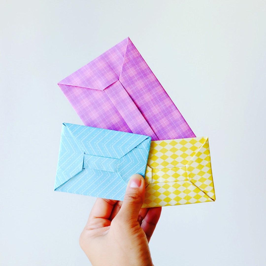 Оригами конверт для денег из бумаги