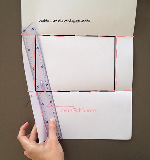 Оригами конверт с сюрпризом-прорисуйте линию загиба