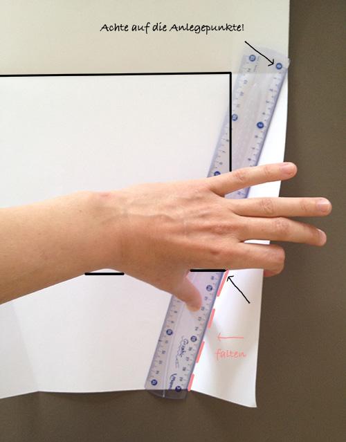 Оригами конверт с сюрпризом-прорисуйте линию загиба 2