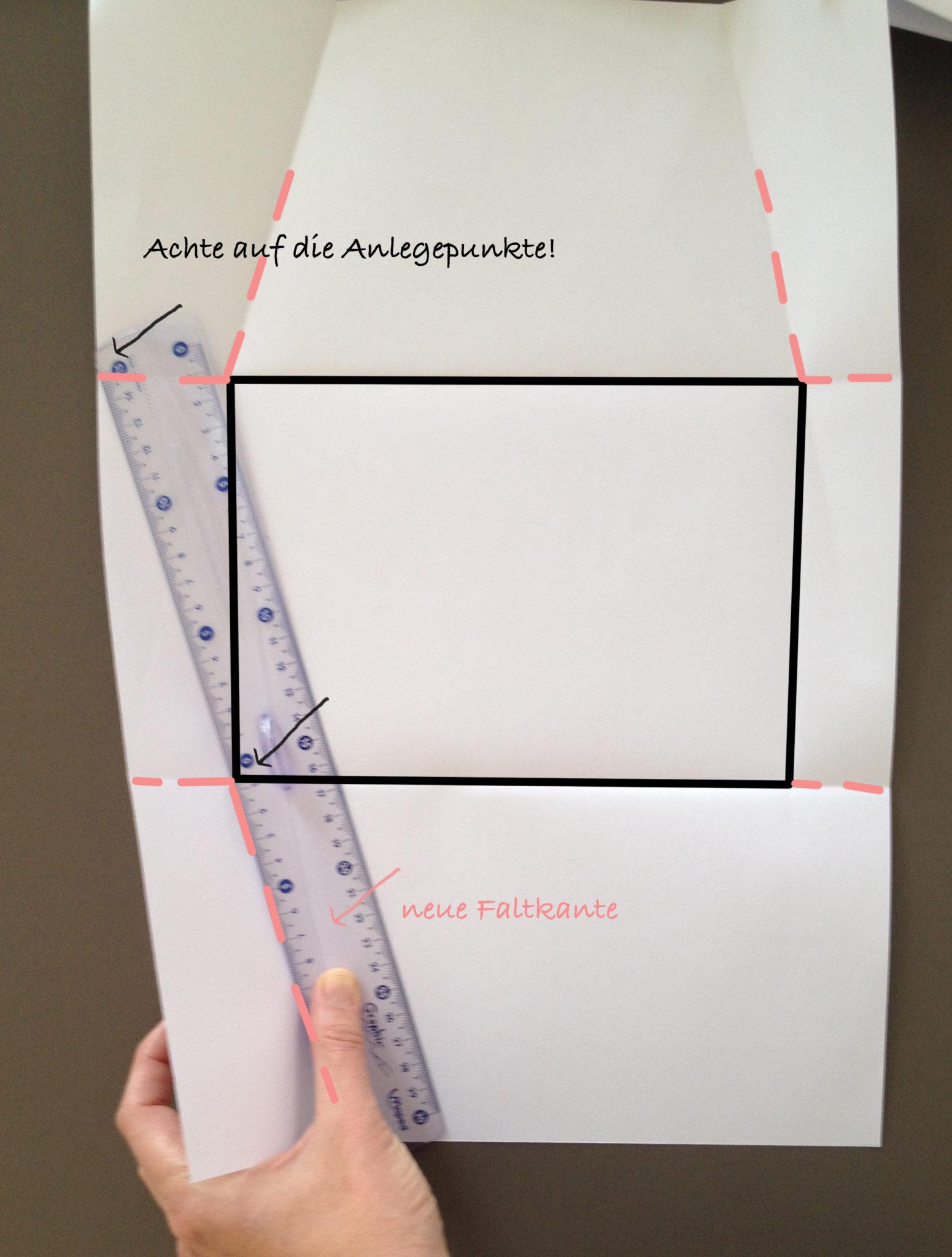 Оригами конверт с сюрпризом-прорисуйте линию загиба 3