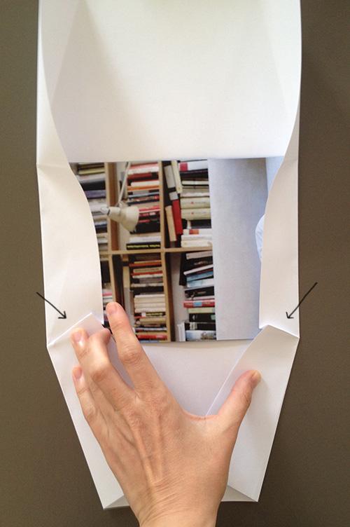 Оригами конверт с сюрпризом-сделайте складки с двух сторон