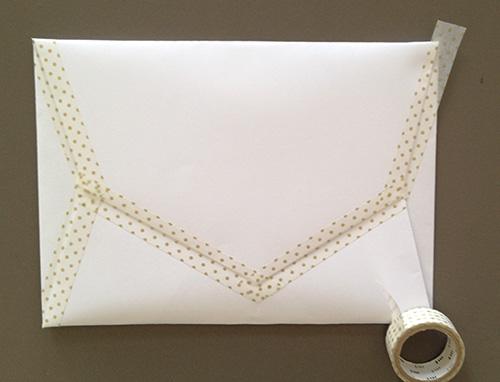 Оригами конверт с сюрпризом-заклейте бока